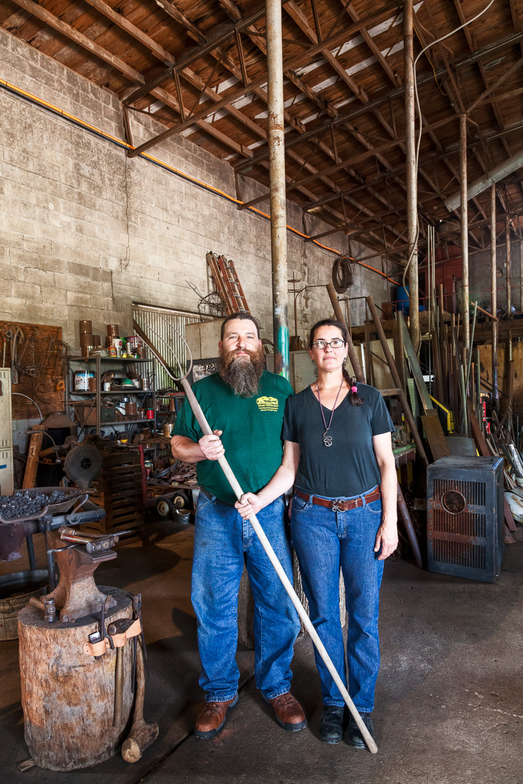 Tiger & Erin Flores, blacksmiths